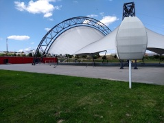 The very cool indoor-outdoor sports dome...