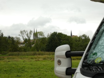 The towers of the cathederal from our car park.
